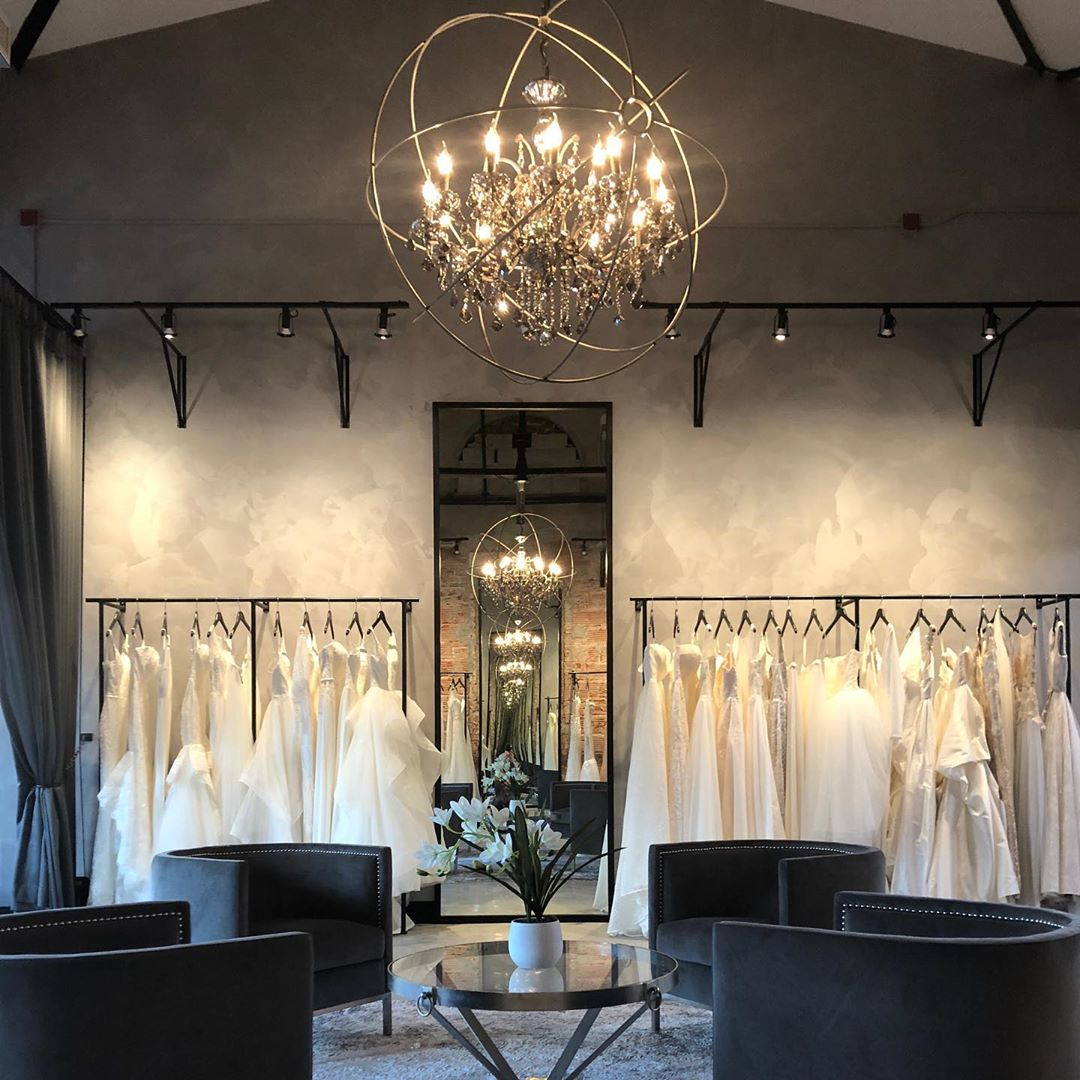 The White Gallery wedding dress shop in Edmonton - Wedding gowns on display